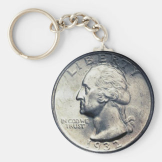 Porte-clés Chaîne principale de quart de dollar