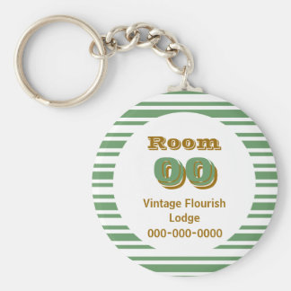 Porte-clés Chambre d'hôtel brune de rayures de Greeen
