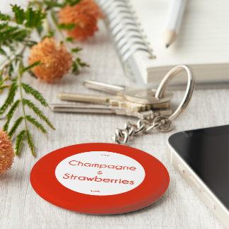 Porte-clés Champagne et fraises