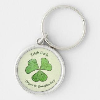 Porte-clés Chance St Patrick irlandais de shamrock