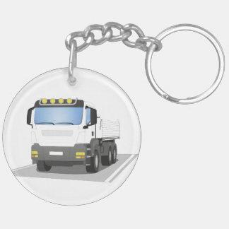 Porte-clés chantiers camion blanc
