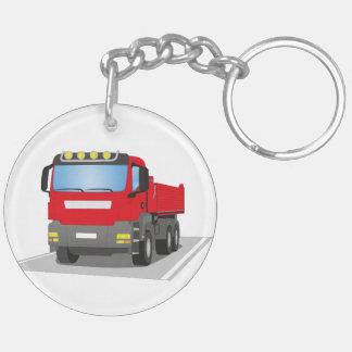 Porte-clés chantiers camion rouges