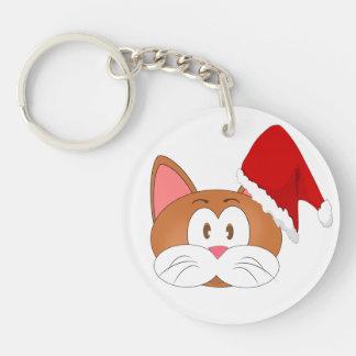 Porte-clés Chat de Père Noël