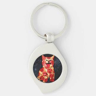 Porte-clés chat de pizza - minou - minou