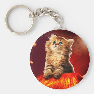 Porte-clés chat de volcan, chat vulcan,