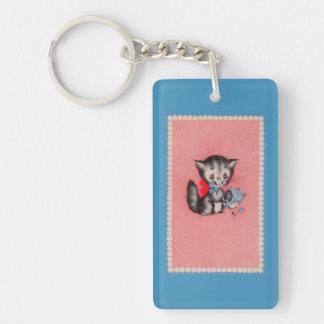 Porte-clés chat doux de minou