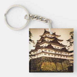 Porte-clés Château de Nagoya dans le 名古屋城 antique de cru du