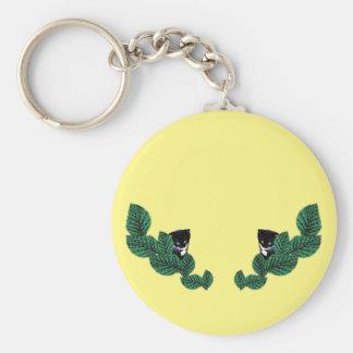 Porte-clés Chatons et feuille (personnalisables)