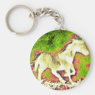 Porte-clés Cheval blanc de joyeuses vacances chaudes