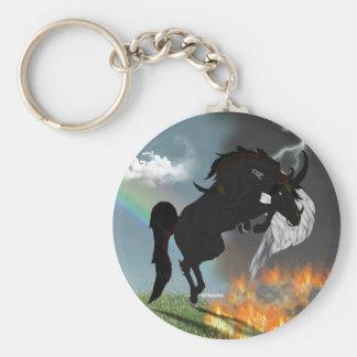 Porte-clés Cheval d'ange de démon de créature d'imaginaire