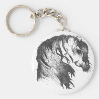 Porte-clés Cheval soufflé par vent d'imaginaire