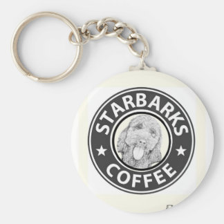 Porte-clés chien Starbucks
