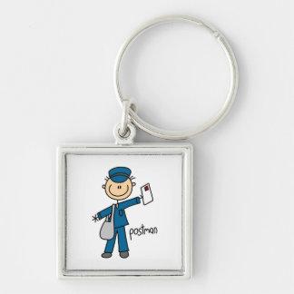 Porte-clés Chiffre de bâton de travailleur postal