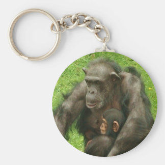 Porte-clés Chimpanzé avec le bébé - porte - clé