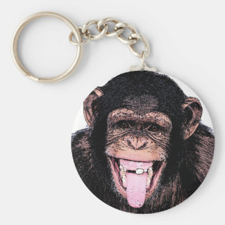 Porte-clés Chimpanzé d'art de bruit collant la langue