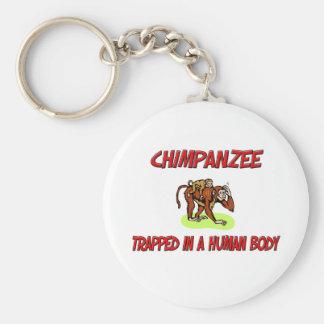 Porte-clés Chimpanzé emprisonné à un corps humain