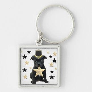 Porte-clés Chiot de bull-terrier de Stafforfshire