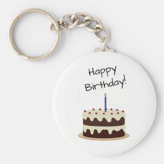Porte-clés Chocolat de joyeux anniversaire et gâteau de