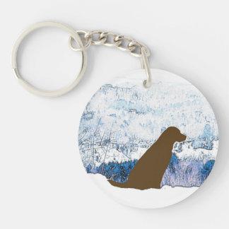 Porte-clés Chocolat Labrador