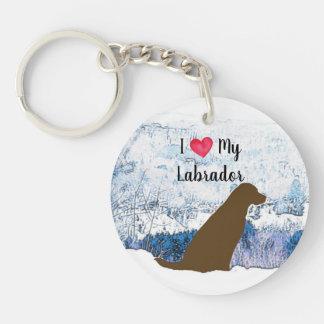 Porte-clés Chocolat Labrador - amour d'I mon Labrador