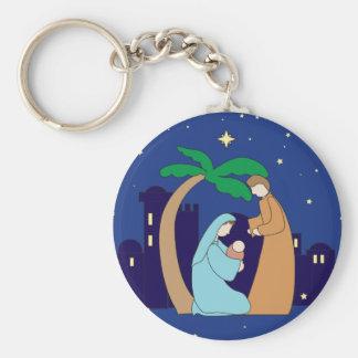 Porte-clés Chrétien saint de Noël de nativité de famille