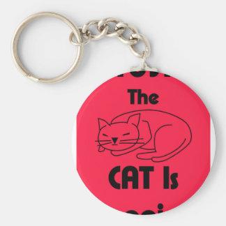 Porte-clés CHUT ! Le chat dort