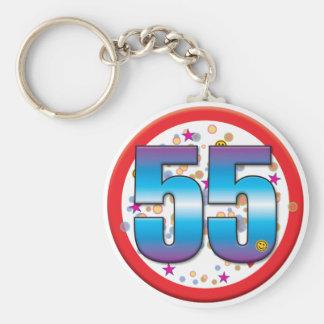 Porte-clés cinquante-cinquième Anniversaire v2