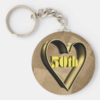 Porte-clés cinquantième Cadeaux d'anniversaire de mariage