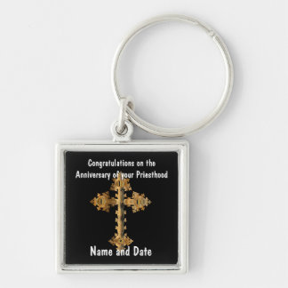 Porte-clés Cinquantième d'anniversaire 15ème de prêtre 20ème