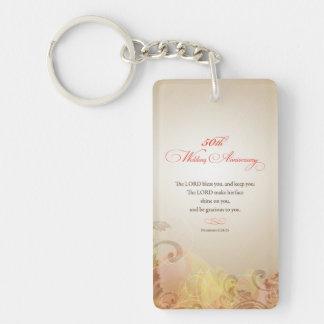 Porte-clés cinquantième L'anniversaire de mariage, seigneur