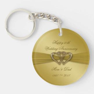 Porte-clés Cinquantième porte - clé d'or classique