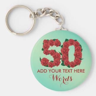 Porte-clés Cinquantième porte - clé personnalisé