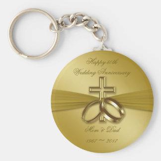 Porte-clés Cinquantième porte - clé religieux d'anniversaire