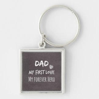 Porte-clés Citation de papa et de fille : Première passion,
