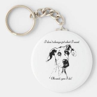Porte-clés Citation drôle d'humour de chien corrompue par