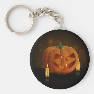 Porte-clés Citrouille de Halloween avec des bougies - porte -