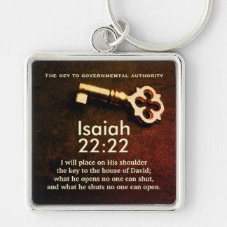 Porte-clés Clé de 22h22 d'Isaïe à la Chambre du vers de bible