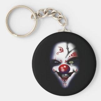 Porte-clés clown mauvais Halloween effrayant