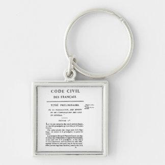 Porte-clés Code civil de porte - clé de la France