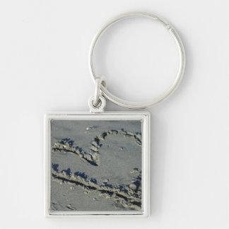 Porte-clés Coeur dans le sable