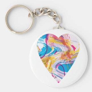 Porte-clés Coeur d'art de problème