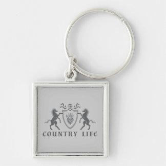 Porte-clés Coeur et chevaux