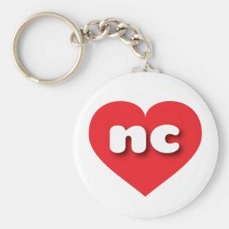 Porte-clés Coeur rouge de la Caroline du Nord - mini amour