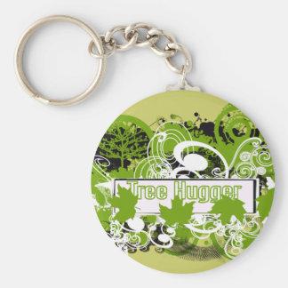 Porte-clés Collage de Hugger d'arbre de nature dans des tons