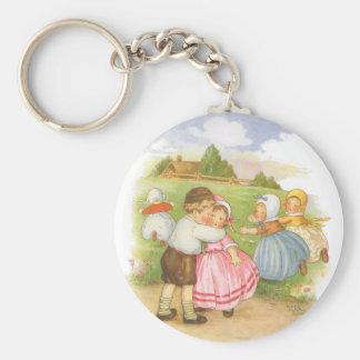 Porte-clés Comptine vintage d'oie de mère de Georgie Porgie