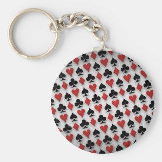 Porte-clés Conception de motif de cartes de jeu de tisonnier