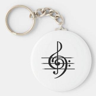 Porte-clés Conception de note musicale