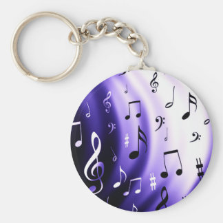 Porte-clés Conception de notes musicales