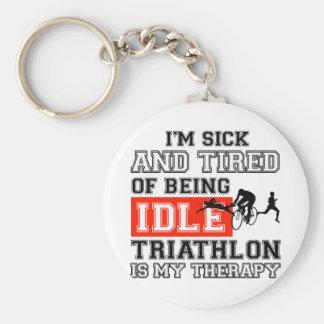 Porte-clés conception de triathlon