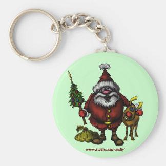 Porte-clés Conception drôle de porte - clé de Père Noël